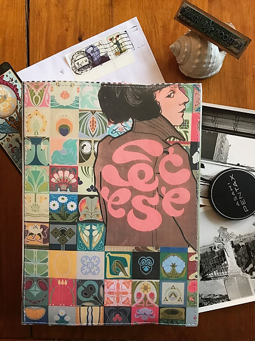 Handmade collage notebook from DelphineIV