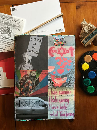 Love is the answer - unique collage notebook by DelphineIV