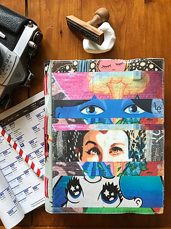 Unique collage notebook by DelphineIV