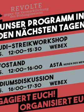 Einladung zu Streik-Workshop & Podiumsdiskussion
