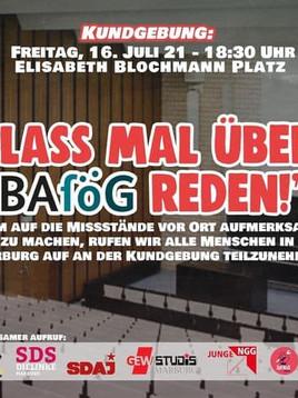 Einladung zur Kundgebung: Lass mal über BAföG reden!