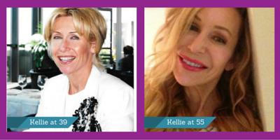 Kellie at 39.  Kellie at 55.  Revere aging at it's best