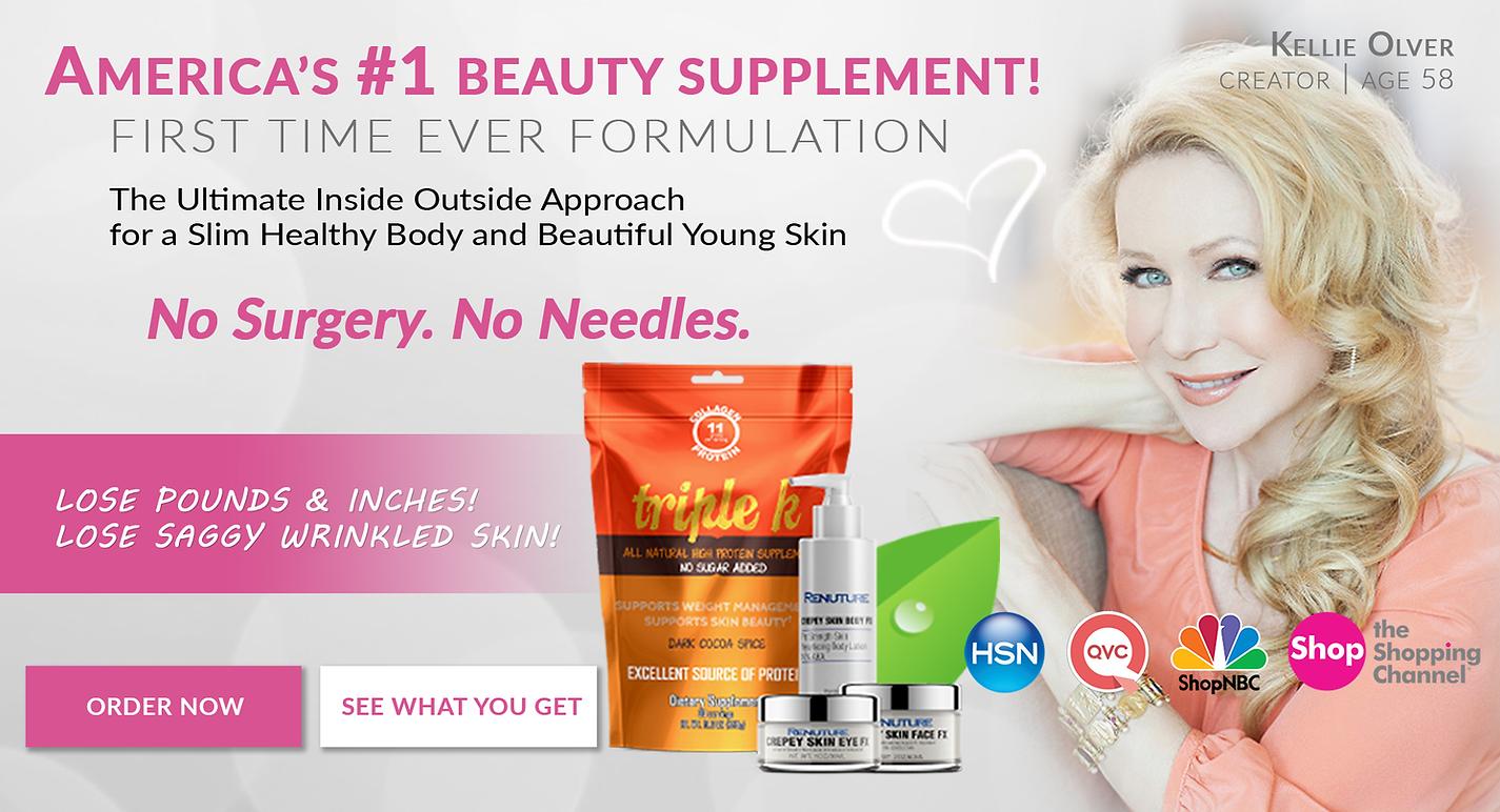 TK Collagen Supplement and CrepeySkinFX Skincare
