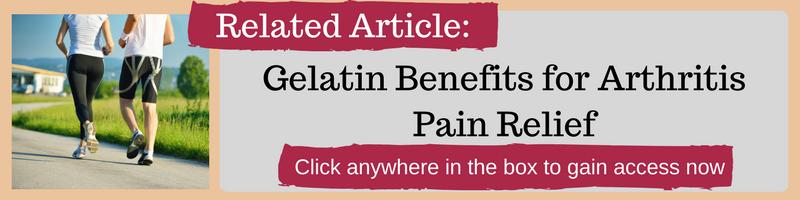 gelatin for arthritis pain relief