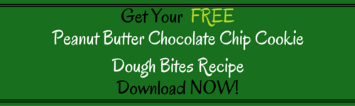 Peanut Butter Chocolate Chip Cookie Dough Bites by Kellie Olver