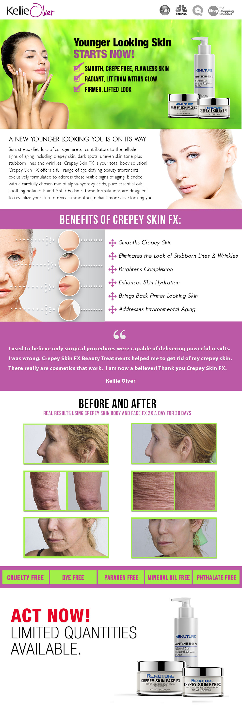 Kellie Olver Crepey Skin FX - how to fix crepey skin