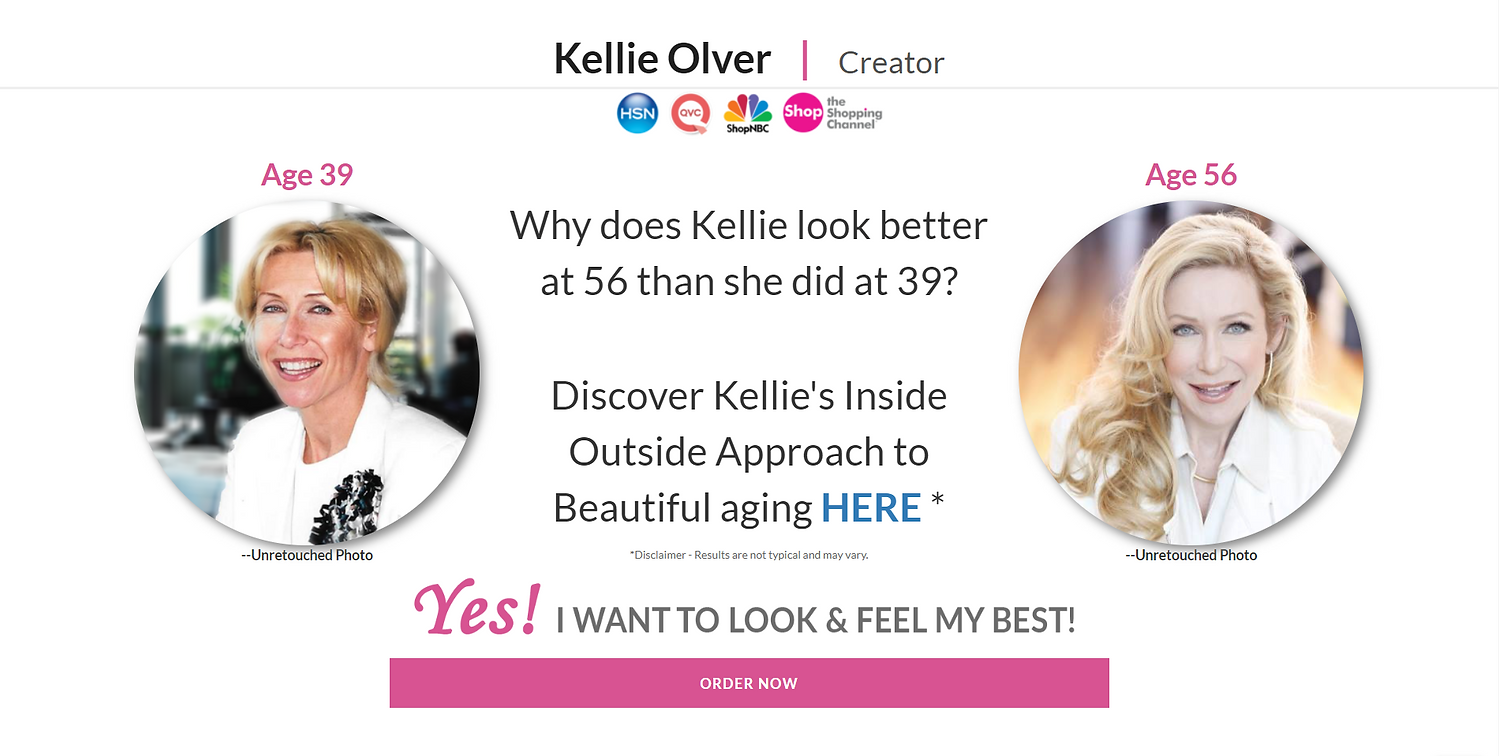 Kelie Olver uses collagen supplements and skincare to make collagen to look younger.
