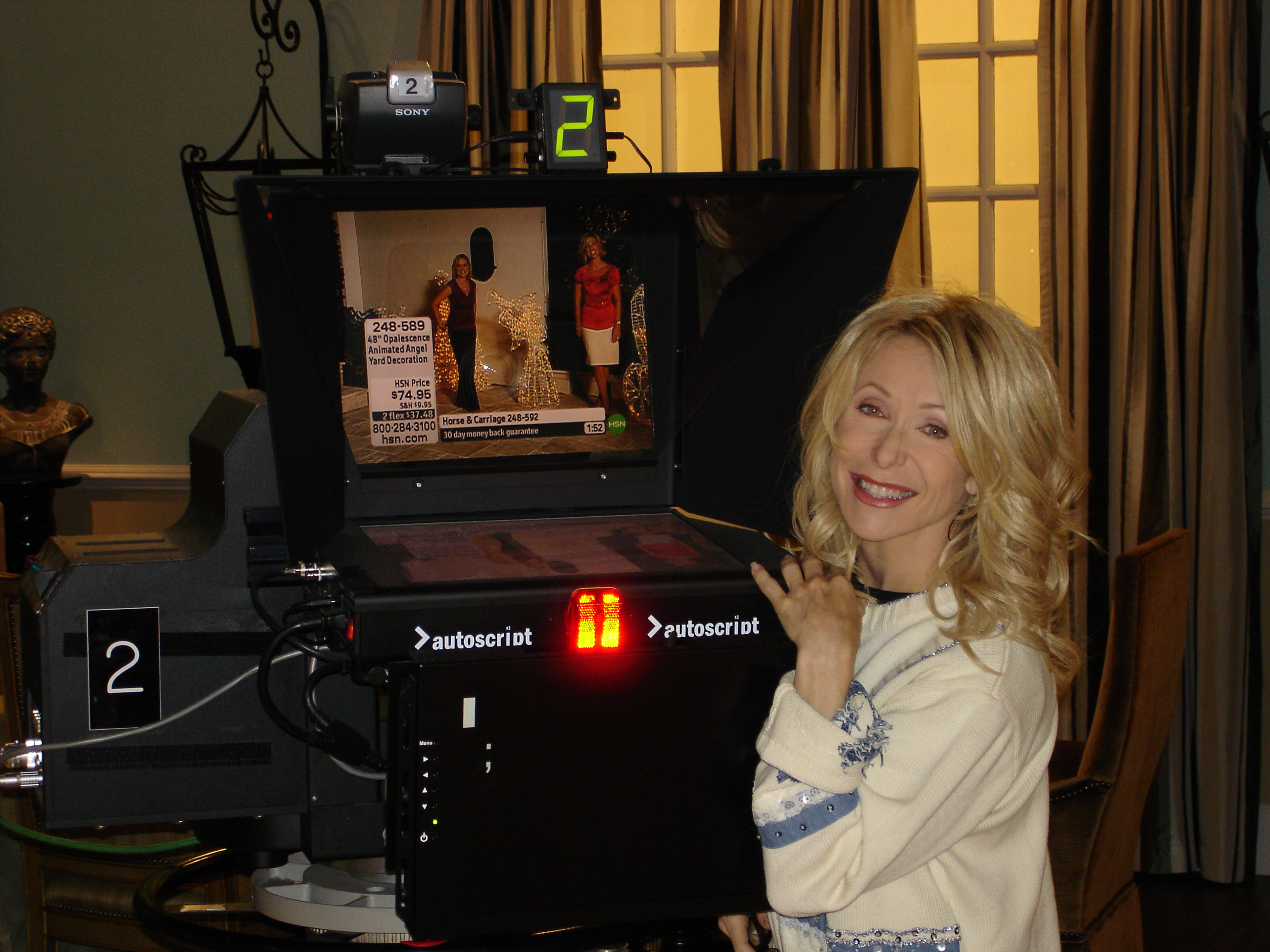 Kellie Olver on the set at HSN!