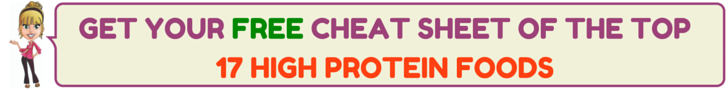 17 High Protein Foods Cheat Sheet by Kellie Olver