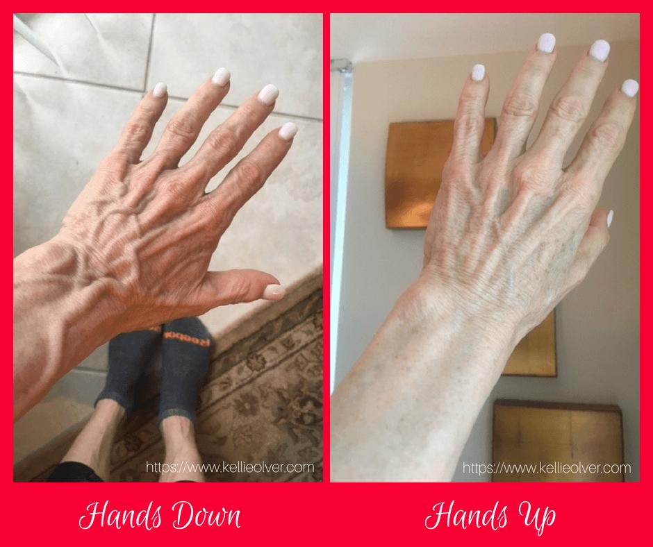 Hands down vs. Hands up