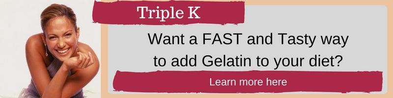Triple K Collagen Protein derived from gelatin.