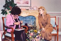 Joan Collins and Kellie Olver