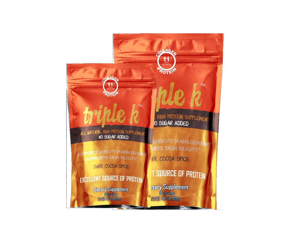 Triple K Collagen Enriched Beverage Blend by Kellie Olver