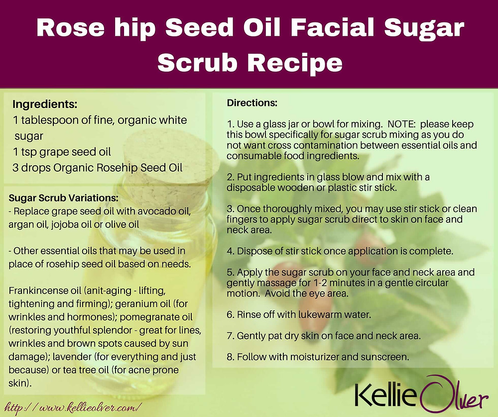 Kellie Olver's Rose Hip Oil Sugar Scrub Recipe