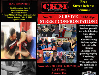LA FITNESS CKM SEMINAR                           November 30th 6:00-7:30pm