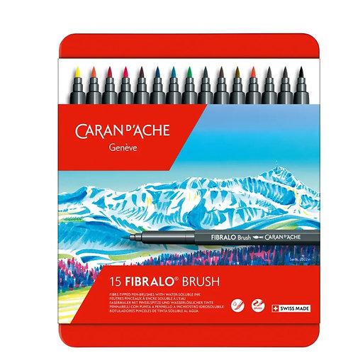 CARAN D'ACHE Classic Fibralo Brush 15er Set