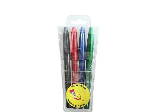 PENTEL Brush Sign Pen 4er Set