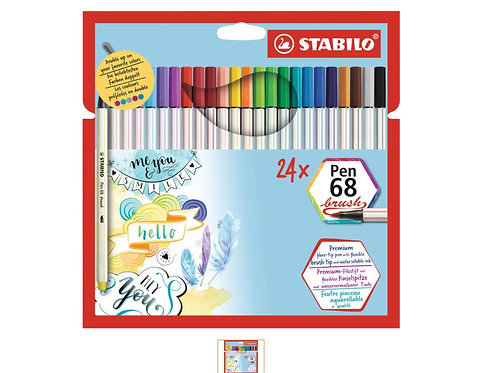 STABILO Pen 68 Brush 24er Set