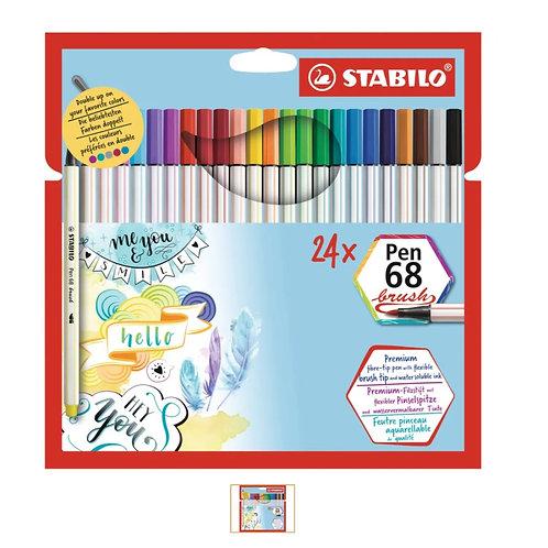 STABILO Pen 68 Brush 24er Set