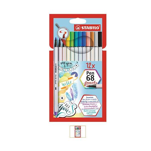 STABILO Pen 68 Brush 12er Set