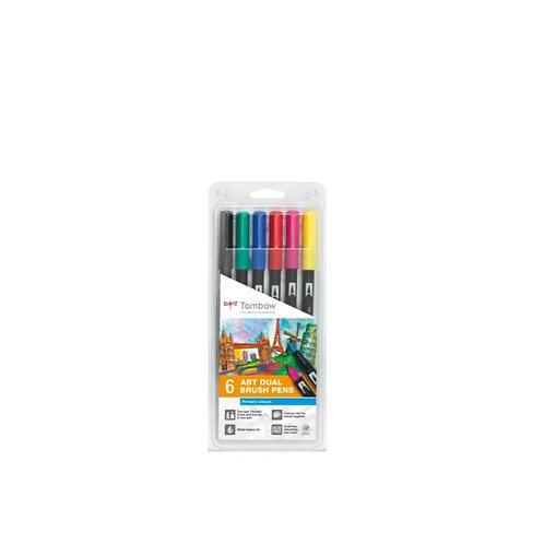 TOMBOW ABT Dual Brush Pen 6er Set Grundfarben