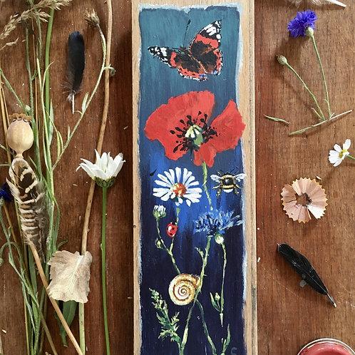 Poppy Oak Panel