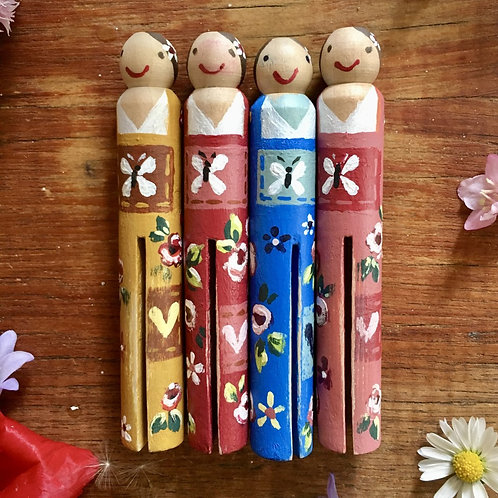 Hand Painted Peg Dolls (Natural)