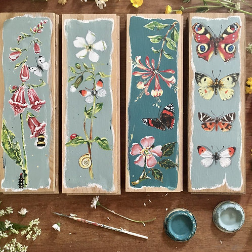 Wildflower and Insect Oak Panel.