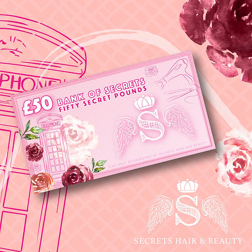 Secrets £50 Gift Certificate