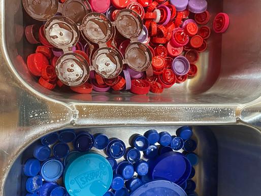 Washing Bottle Caps!