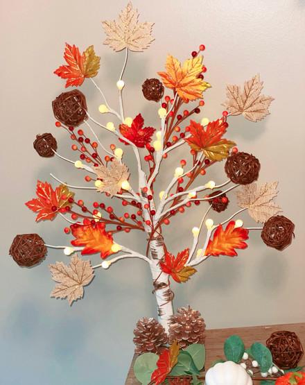 Custom Tabletop Fall Tree