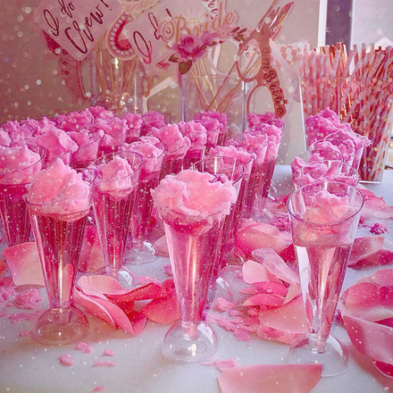 Bridal Shower Cotton Candy Shooters