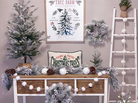 Design a Hallmark Worthy Christmas Tree Farm Entryway
