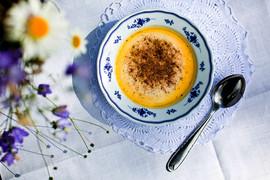 Glomstad Gjestehus' home made sour cream porridge