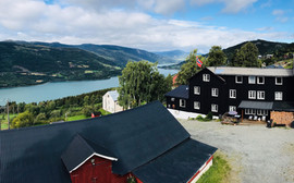 The view from Glomstad Gjestehus