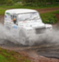 AFRT Romeo 4 smashing through the water splash at Duns on the Jim Clark 2013