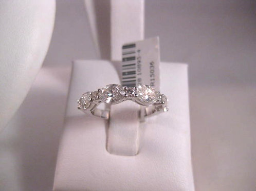 White Gold and Oval Diamond Band
