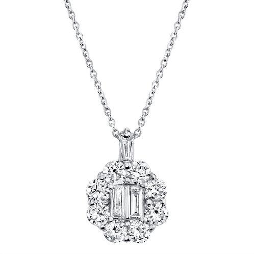 Pendant Diamonds and Baguette