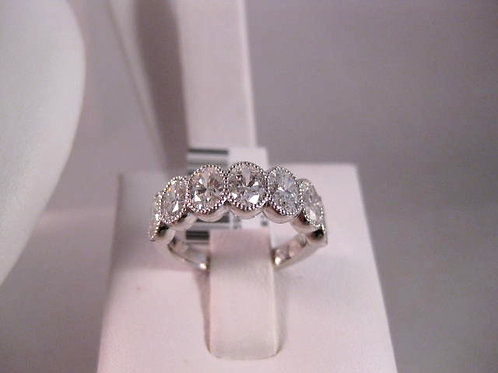 White Gold and Oval Diamond Ring