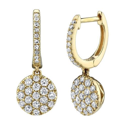 Round Cluster Dangle Earrings