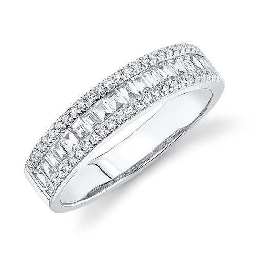 Baguette and Round Diamond Band
