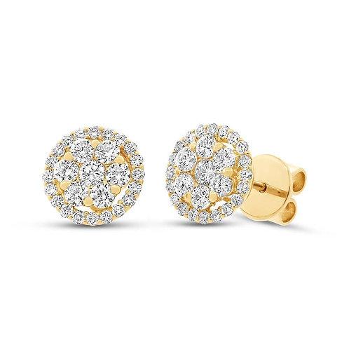 Halo Cluster Earrings
