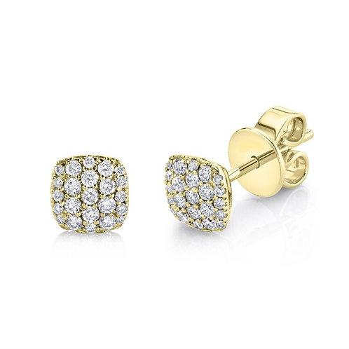 Mini Cushion Cluster Earrings