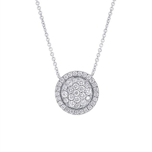 Necklace Halo Round Cluster