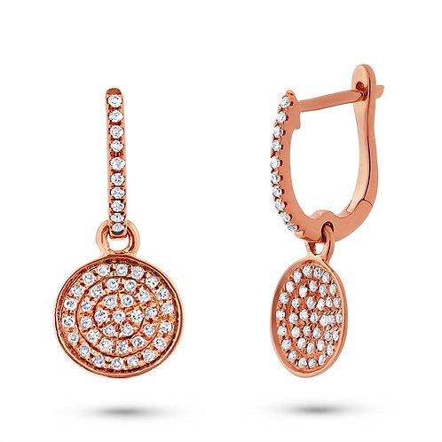 Rose Gold Dangle Disks Earrings