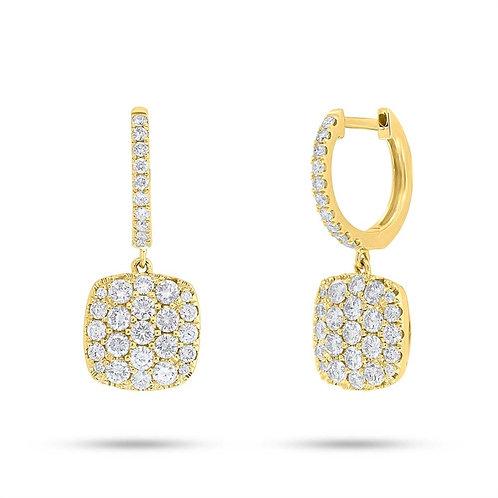 Cushion Cluster Dangle Earrings
