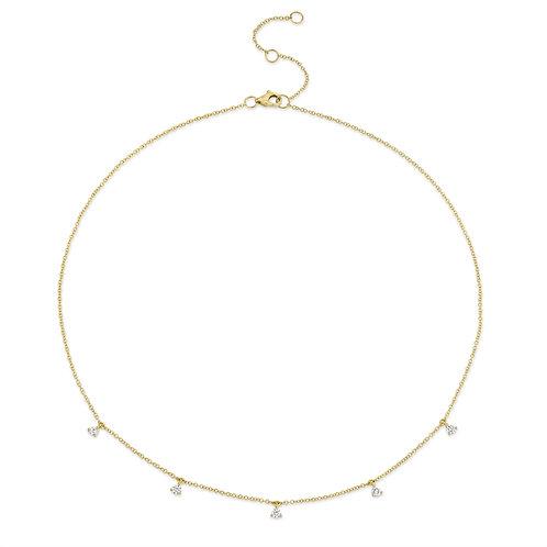 Necklace Dangle Diamonds