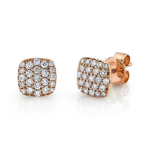 Cushion Cluster Earrings