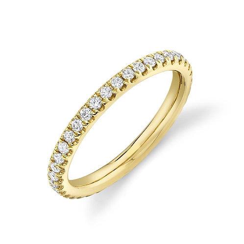 Yellow Gold and Diamond EternityBand