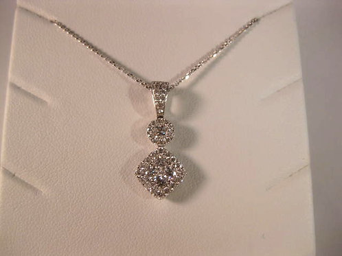 White Gold and Diamond Pendant